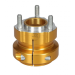 ALUMINIUM REAR HUB 50/62-8 GOLD ANODIZED